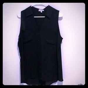 Black sleeveless portofino tank from Express